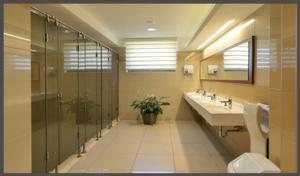 Mosdópult üveg WC-fülkékkel
